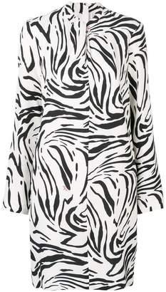 MSGM zebra print short dress