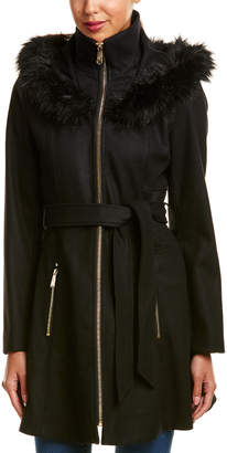 Laundry by Shelli Segal Belted Wool-Blend Coat