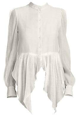 See by Chloe Women's Flowy Button-Front Blouse