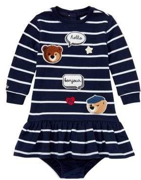 Ralph Lauren Baby Girl's Two-Piece Striped Dress and Bloomers Set