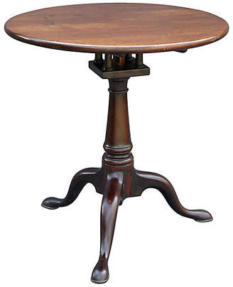One Kings Lane Vintage Queen Anne Pedestal Table with Bird Cage - Faded Rose Antiques LLC