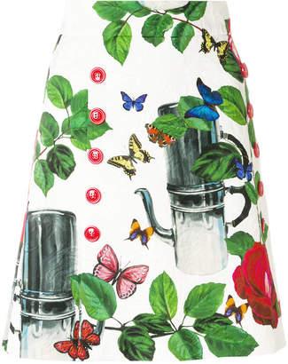 Dolce & Gabbana coffeepot print mini skirt