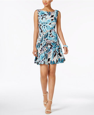 Connected Floral-Print Fit & Flare Dress $69 thestylecure.com