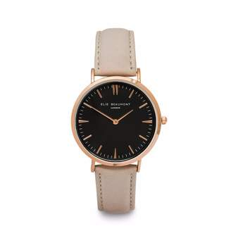 Beaumont Elie Oxford Large Stone Nappa Leather Black Dial