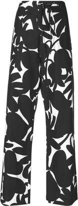 Marni floral flared trousers