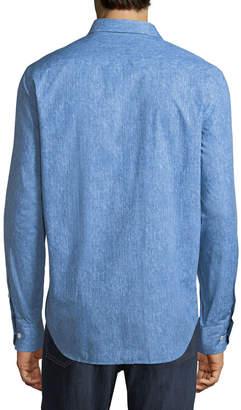 Bugatchi Classic-Fit Faded Sport Shirt, Blue