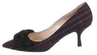 Prada Woven Pointed-Toe Pumps