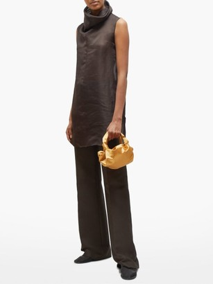 The Row The Ascot Silk Satin Clutch Bag - Womens - Yellow