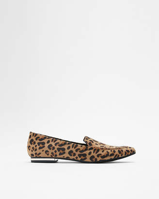 Express Leopard Print Pointed Toe Loafers