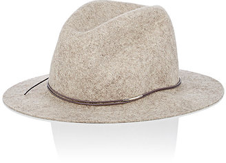Hat Attack HAT ATTACK WOMEN'S AVERY WOOL FELT FEDORA $200 thestylecure.com