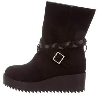 Ritch Erani NYFC Suede Wedge Ankle Boots w/ Tags outlet choice Ey5lvy