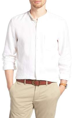 1901 Band Collar Linen Sport Shirt