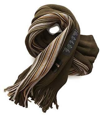 Fancy Stitch Women/Men's Color Block Rib Stripe Knitted Wool Scarf