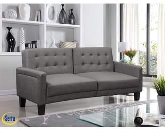 Serta Tivoli Multifunctional Sofa, Convertible To Bed, Light Grey