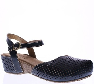 Spring Step L'Artiste Leather Wedge Clogs - Lizzie