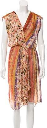 Diane von Furstenberg Metallic Silk Dress