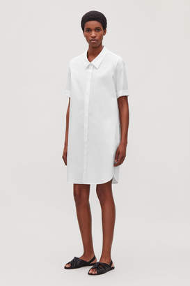 Cos SHIRT DRESS WITH DROPPED COLLAR
