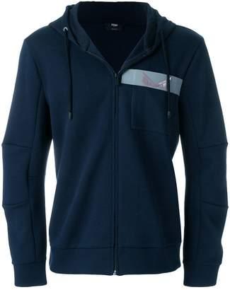 Fendi zipped fastened hoodie