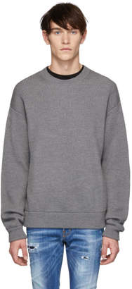 DSQUARED2 Grey Wool Classic Crewneck Sweater