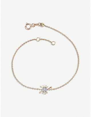 Rosegold The Alkemistry Kismet by Milka 14ct rose-gold and diamond Scorpio bracelet