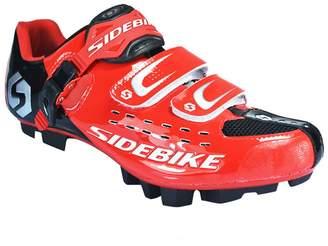 LIVEINU Men's Bike Shoe Riding Shoes Cleats Red