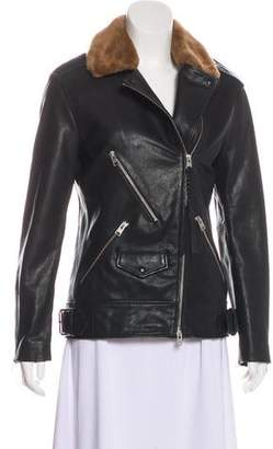AllSaints Sherwood Biker Leather Jacket