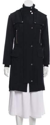 A.L.C. Hooded Knee-Length Coat