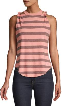 Free People The Twist Striped Cotton Tank Top