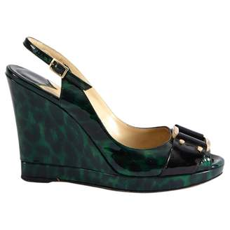 Jimmy Choo Green Patent leather High Heel