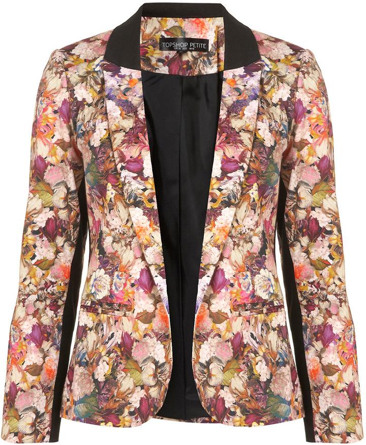 Topshop Petite Co-Ord Floral Blazer