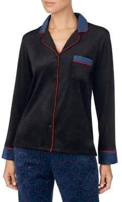 DKNY Printed Velour Pyjama Top