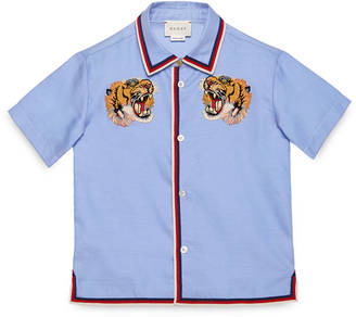 Children's oxford shirt with tigers $580 thestylecure.com