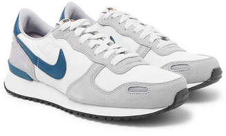 Nike Air Vortex Leather-trimmed Suede, Nylon And Mesh Sneakers - Gray