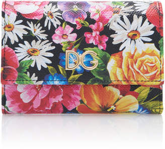 Dolce & Gabbana Floral-Print Leather Wallet