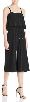 MICHAEL Michael Kors Ruffle Overlay Cropped Jumpsuit