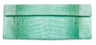 Nancy Gonzalez Crocodile Flap Clutch
