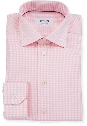 Eton Contemporary-Fit Houndstooth Dress Shirt