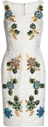 Dolce & Gabbana Embellished Cotton And Silk-Blend Jacquard Dress