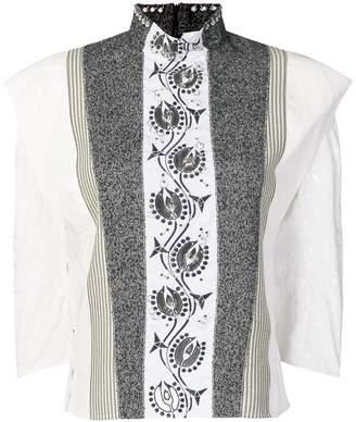 Chloé hoop trim contrast panel blouse