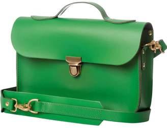 Trilogy N'Damus London - Small Emerald Green Leather Rucksack & Satchel