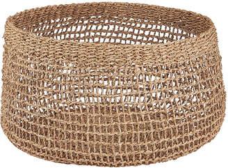 Nkuku Mendi Short Seagrass Basket - Natural - Large