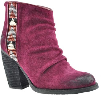 Sbicca Side Beaded Suede Booties - Delaware