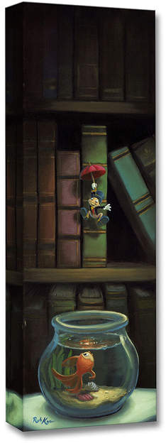 Pinocchio Dropping In Limited Edition Wrapped Canvas