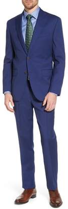David Donahue Ryan Classic Fit Stripe Wool Suit