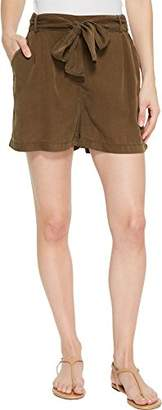 Three Dots Women's All Weather Twill Loose Short