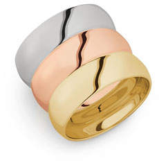 Lana 14k Tricolor Gold Bubble Ring