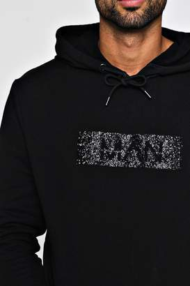 boohoo MAN Caviar Beaded Over The Head Hoodie
