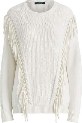 Ralph Lauren Fringe-Trim Cotton Sweater