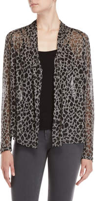 Fever Animal Print Open Cardigan