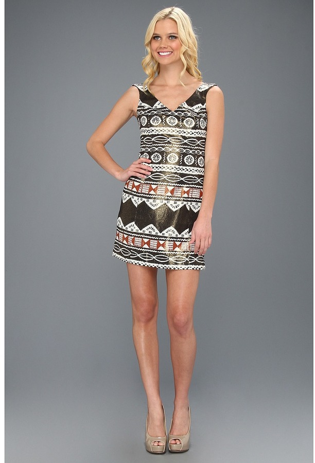 Nanette Lepore The Artisan Dress (Black Multi) - Apparel